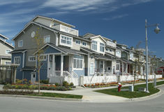Row of Beautiful New Townhomes Royalty Free Stock Photography