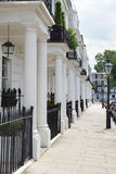 Row of beautiful white edwardian houses in London Stock Photo