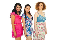 Row of beautiful women Royalty Free Stock Image
