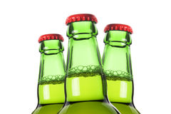 Row of beer bottles Royalty Free Stock Photos