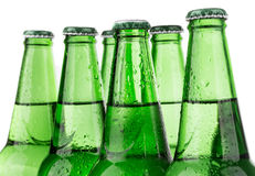 Row of beer bottles Royalty Free Stock Image