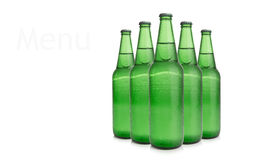 Row of beer bottles Stock Photos