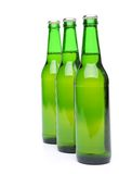 Row from beer bottles. Stock Images