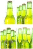 Row of beer bottles Stock Photos