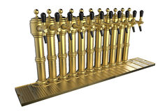 Row of beer taps Royalty Free Stock Photos