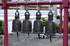 Row of bell. Row bell in temple thailand Stock Photography