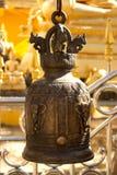 Row of bells. Ceremonial bell in Wat Stock Photography