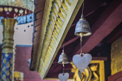 Row of bells in buddhist temple, asia Royalty Free Stock Images