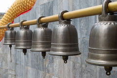Row of bells Stock Images