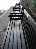 Row Of Benches Royalty Free Stock Photos