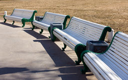 A row of benches Stock Photography