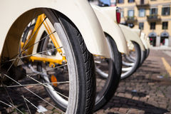 Row of bicycle Royalty Free Stock Photo