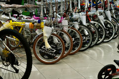 Row of bicycle Stock Photography