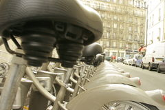 Row of bicycles Royalty Free Stock Images