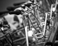 Row of bicycles, Barcelona royalty free stock photo