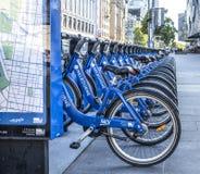 Row of Bicycles, Melbourne, Australia Stock Photo