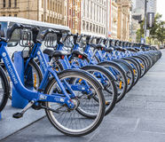 Row of Bicycles, Melbourne, Australia Stock Photography