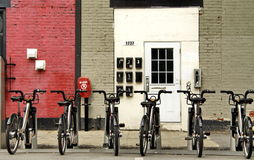 A Row of Bikes Royalty Free Stock Photo