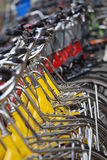 Row of bikes Royalty Free Stock Images