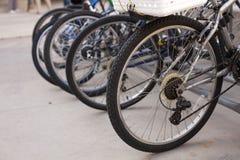 Row of Bikes stock image