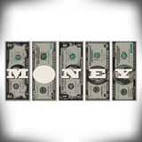 A row of bills money graphic Royalty Free Stock Photography