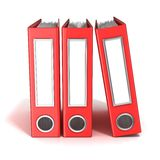 Row of binders, red office folders Royalty Free Stock Image