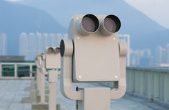 Row of binoculars Royalty Free Stock Images