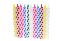 Row of Birthday Candles Royalty Free Stock Photos