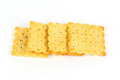 Row of biscuits Stock Photo
