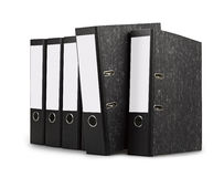 Row of black office folders Royalty Free Stock Images