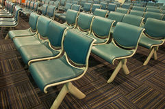 Row of blue chair Stock Photography