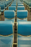 Row of blue chair Stock Image