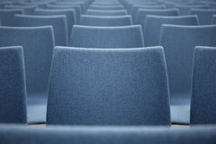 Row of blue chairs. Abstract Royalty Free Stock Image