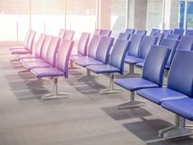 Airport seats stock photo
