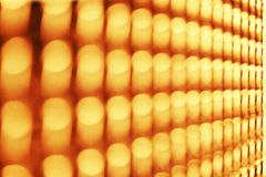 Row of blurred yellow lights Royalty Free Stock Image
