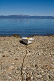 Row boat on beach Royalty Free Stock Photography