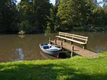 Row boat in a beautiful river Royalty Free Stock Photography