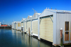 Row of Boat Garages Royalty Free Stock Image
