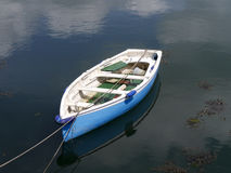 Row boat in harbour Stock Images