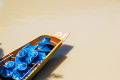 Row boat with hat Stock Images