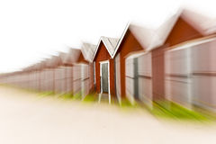 Row of boat houses Royalty Free Stock Images