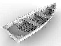 Row boat illustartion Stock Image