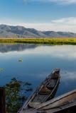 Row boat ,  inle lake in Myanmar (Burmar) Royalty Free Stock Photography