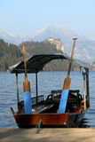 Row boat at Lake Bled Stock Photography