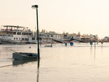 Row-boat No 9 Budapest Flood Stock Photography
