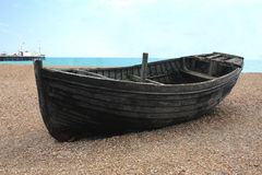 Row Boat On The Beach Stock Image