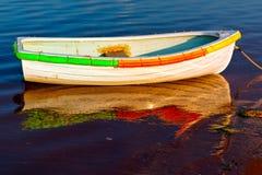 Row boat reflection Royalty Free Stock Photo