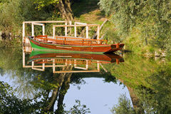 Row boat on the river Royalty Free Stock Photos