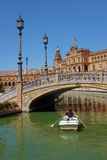 Row Boat in Seville Royalty Free Stock Photo