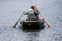 Row boat tam coc Royalty Free Stock Image